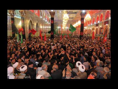 حضور پرشور زائران ایرانی کربلا در عزاداری حضرت زهرا(س)