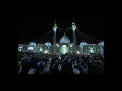 جشن ولادت امام حسن عسكري در مسجد مقدس جمكران