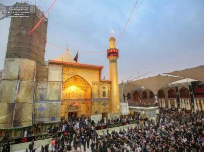 حرم امام علی (ع) در ازدحام زائران اربعین + عکس