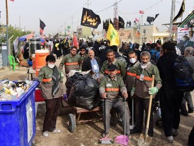 خدمترسانی ۱۴۰۰ جهادگر ایرانی به زائران اربعین حسینی