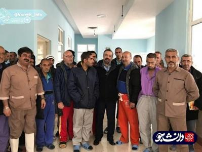 حضور حاج محمودکریمی در مرکز نگهداری از بیماران آسیبهای اجتماعی