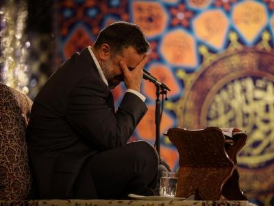 گزارش صوتی مناجات خوانی حاج محمود کریمی در حرم رضوی، شب اول ماه رمضان