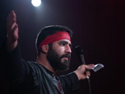 رجزخوانی حسین طاهری در شب چهارم/ ما پرچمدار زینب در راه اربعینیم