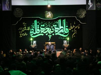 مراسم عزاداری شب شهادت حضرت زهرا(س) در هیات روضهالشهداء