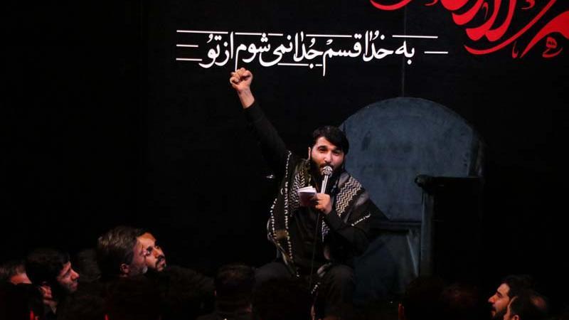 فیلم/ حاج ابوذر بیوکافی: روضه شب زیارتی ارباب