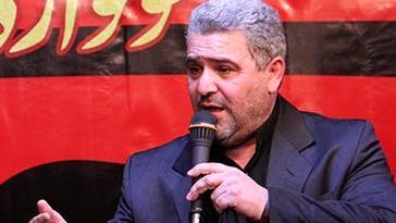 فیلم/ نوحه آذری حاج ابراهیم رهبر در  شام غریبان امام حسن (ع)