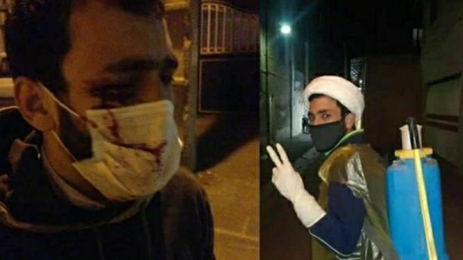 طلبه جهادگری که دیشب مورد حمله جوان مست قرار گرفت، زیر تیغ جراحان است