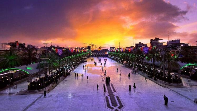 غروب خورشید در کربلای حسینی